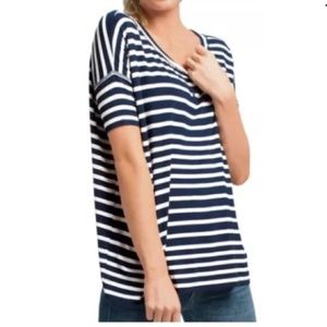 CAbi #769 Sailing Striped Tee Oversized Tunic